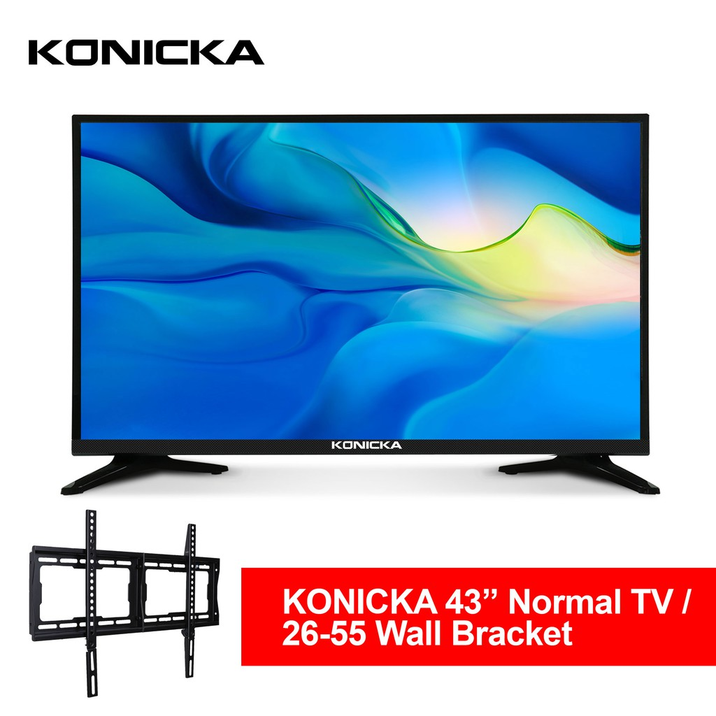 Konicka 43A DN10 Normal LED TV bundled with  26-55 Wall Mount Wall Bracket