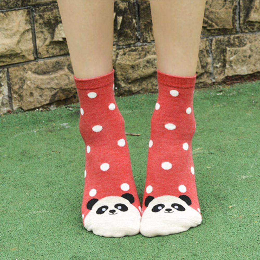 Women Breathable Winter Autumn Medium Stock Casual Sock Dog Animal Cotton Sock