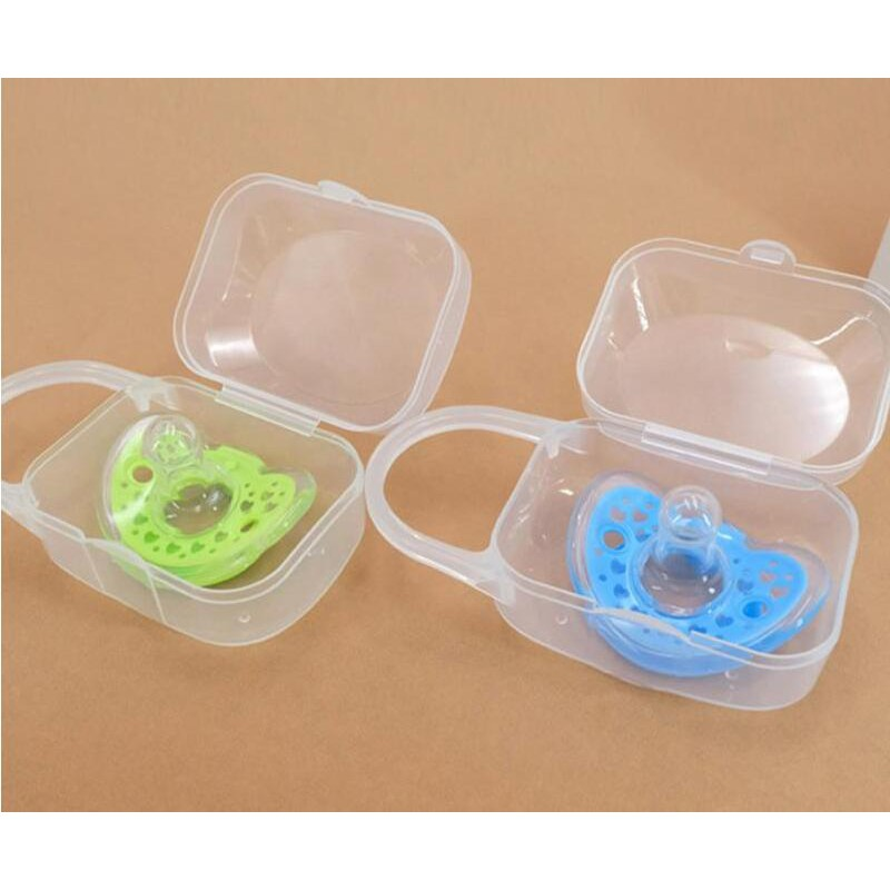 Baby Pacifier Box PP Wide Mouth Nipple Box Portable Dust Pacifier Storage Box