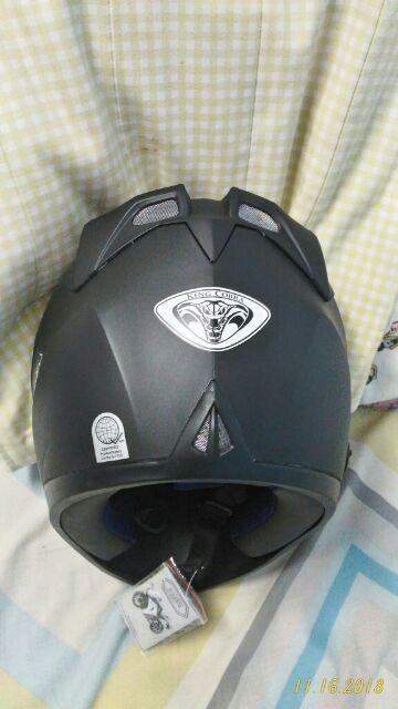 RXR KING COBRA K-691 A Full Face Helmet Motorcycle (Black