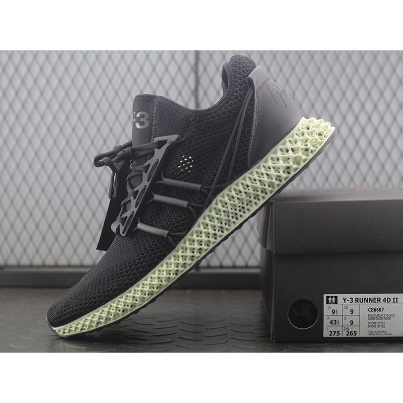 [Kong]Adidas Y 3 Runner 4D II CG6607 Deconstruction Design 4D Print Running Shoes
