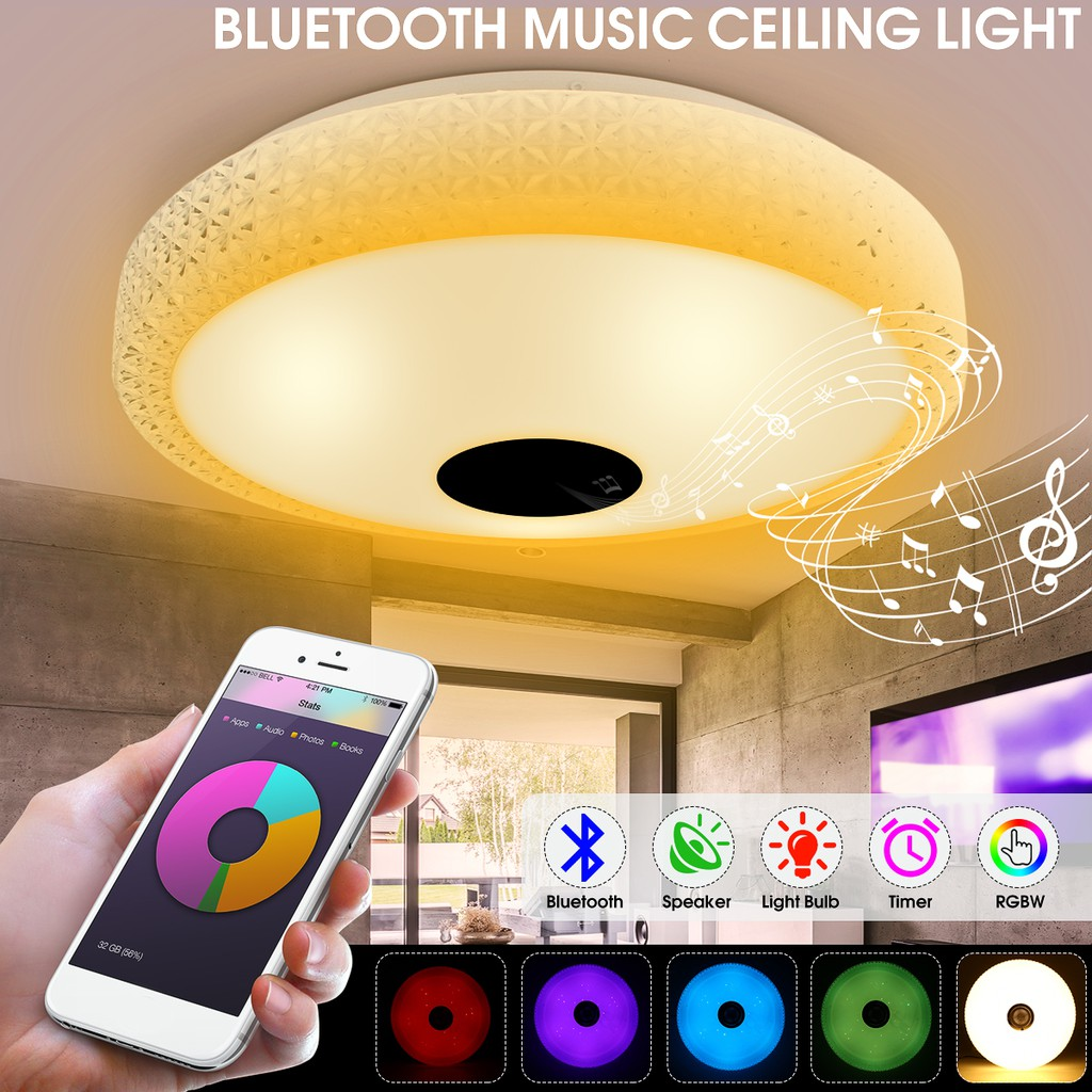 Bluetooth music ceiling light 36led 30w shopee philippines
