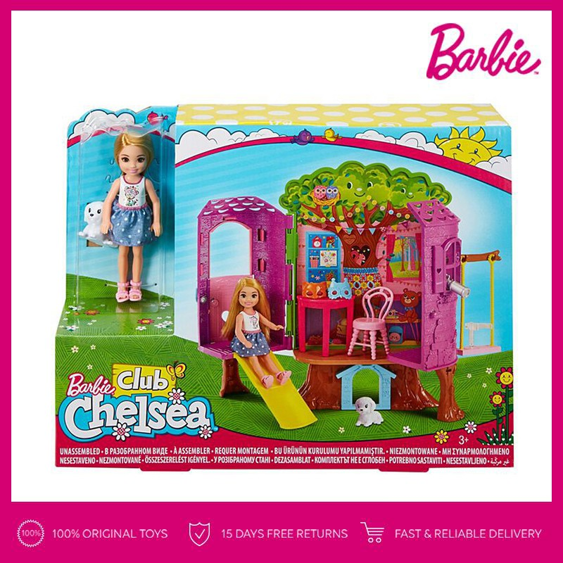 Barbie Chelsea Doll and Treehouse Playset Kid Toy Gift