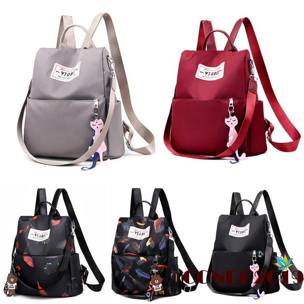 Women Oxford Cloth Camo Backpack Anti-theft Daypack Casual Travel Shoulder Bag