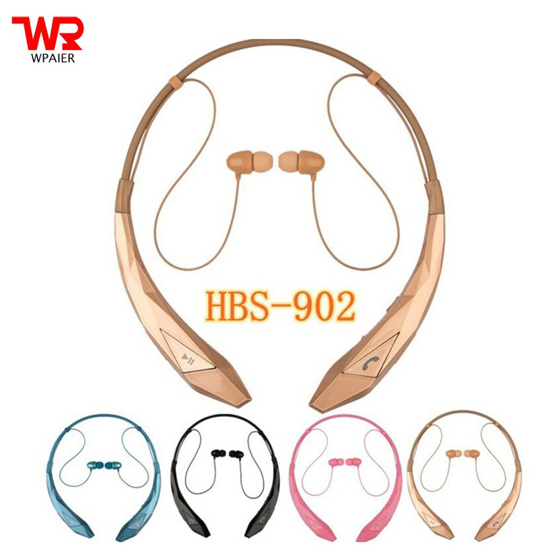 HBS-902 Wireless Bluetooth headphones Neckband in-ear headset for ios /  Android