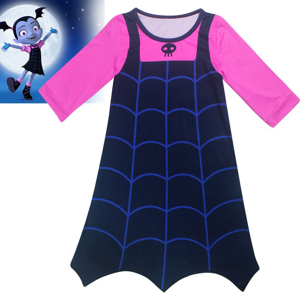 dd3022b17e0 New Cartoon Vampirina Princess Dress Girls Cosplay Dress