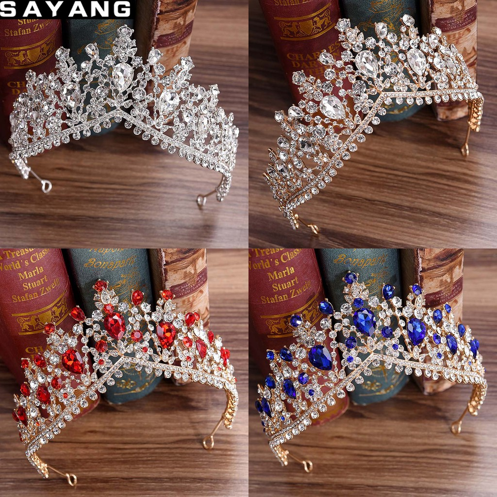 bridal tiaras wedding hair accessories rhinestones crown