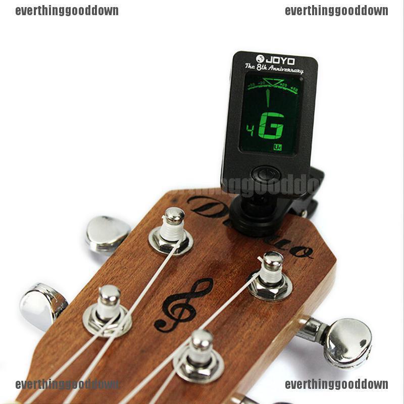 Clip on Chromatic Guitar /& Instrument Tuner Ukulele Bass Electric