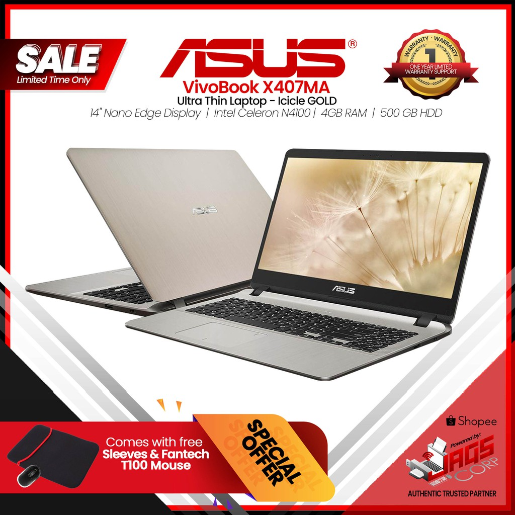 ASUS VivoBook Max X407MA Laptop, Gold