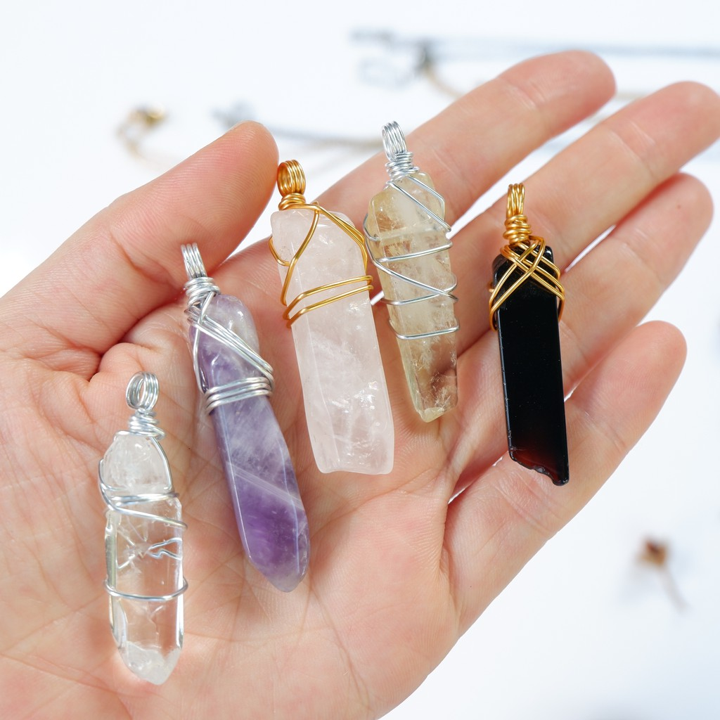 Shard Crystal Necklace - Citrine, Amethyst, Quartz, Tigers eye, Aventurine,  Lapis | Shopee Philippines