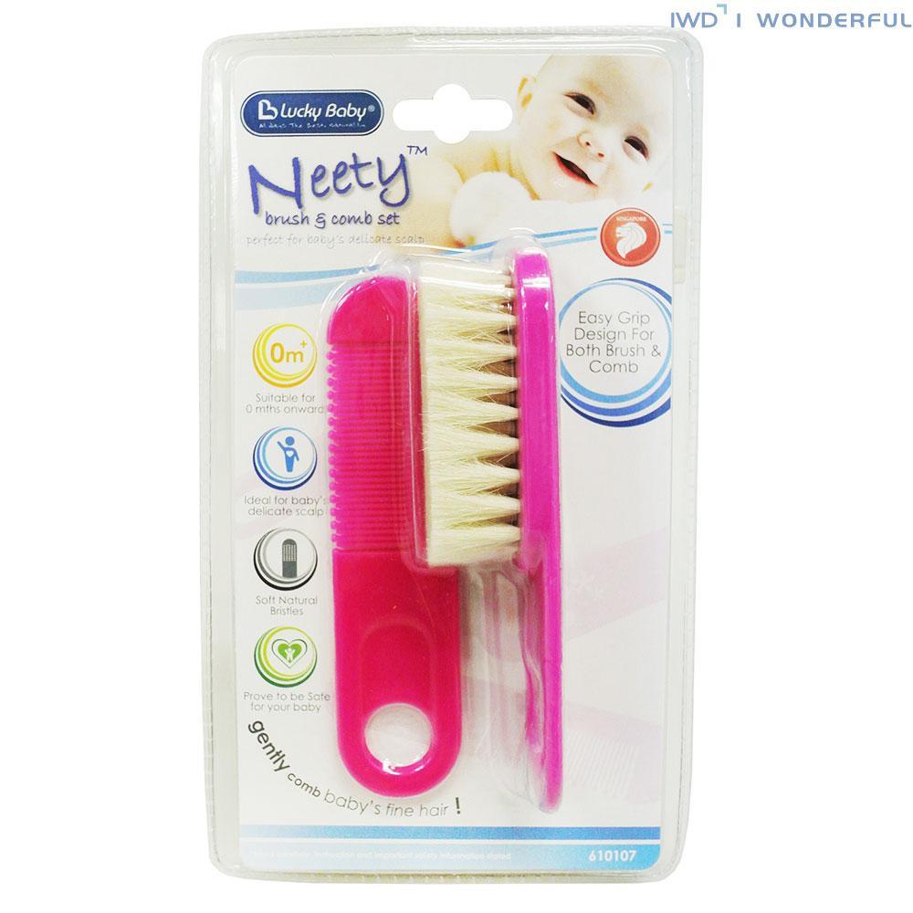 Super Soft Pure Bristle Baby Kids Hair Brush Multi Listing Various Colours