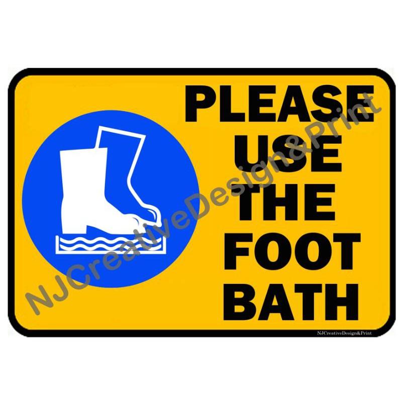 Please Use Foot Bath A4 Laminated Signage Shopee Philippines