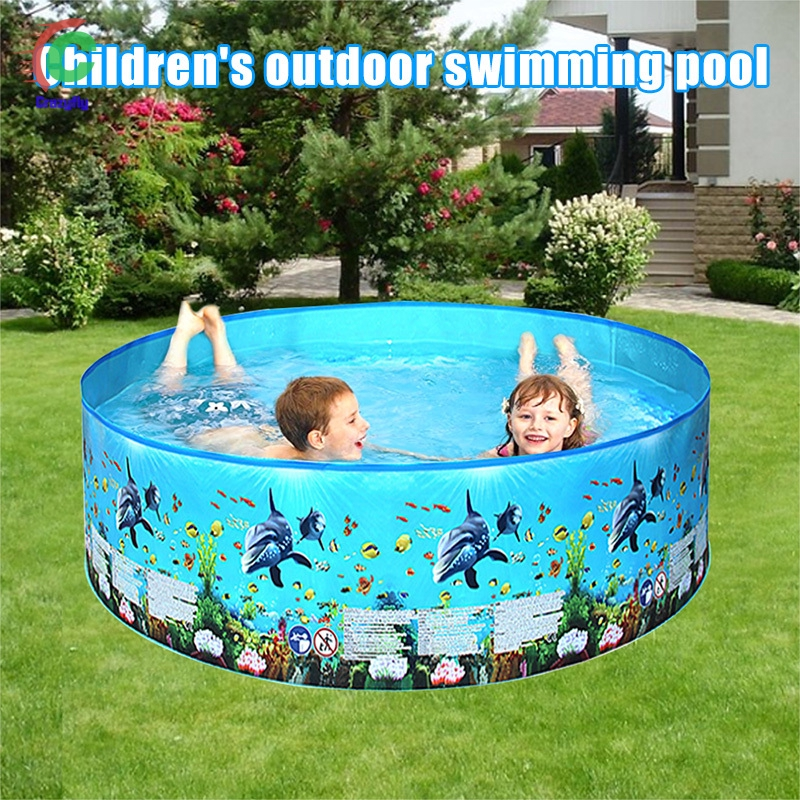 Swimming Pool For Kids Toddler Baby Pool Garden Home Printed Swimming Pools Shopee Philippines