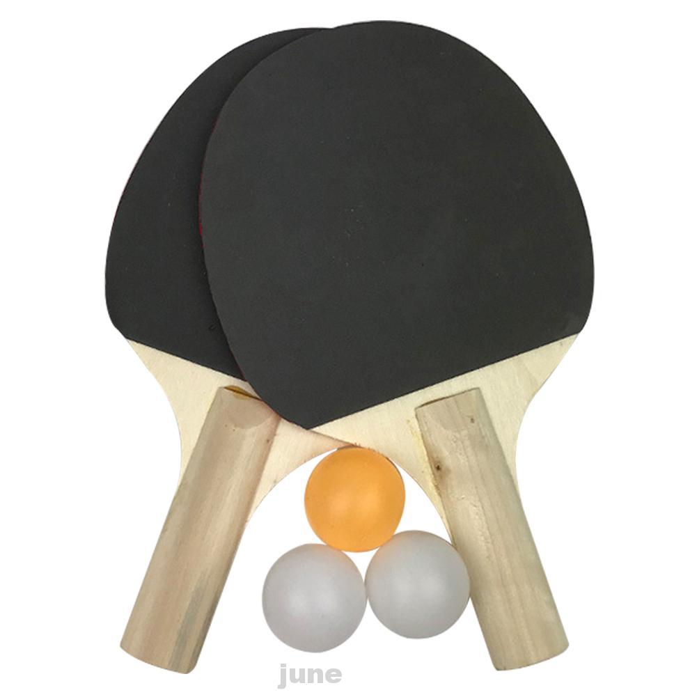 3 Balls 2 Rackets Beginners Kids Gift Sports Equipment Outdoor Training  Table Tennis Set | Shopee Philippines