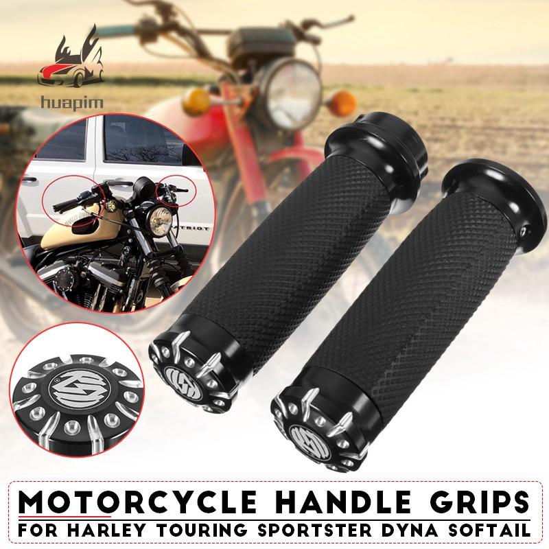 Motorcycle Black Rubber 1 25mm Handlebar Hand Grips Dirt bike Dual Sport bike Cruiser Chopper Bobber Cafe Racer