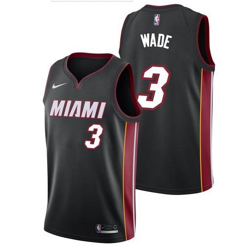 5b780138750 NBA Miami Heat 3 Dwayne Wade Swingman Jersey