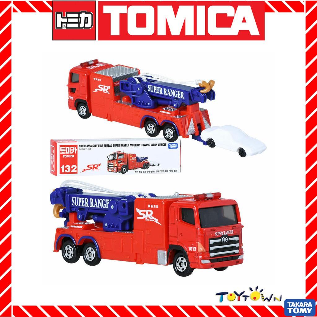 Tomica #132 YOKOHAMA CITY FIRE BUREAU SR MOBILITY TOWING VEHICLE 1//90 SCALE