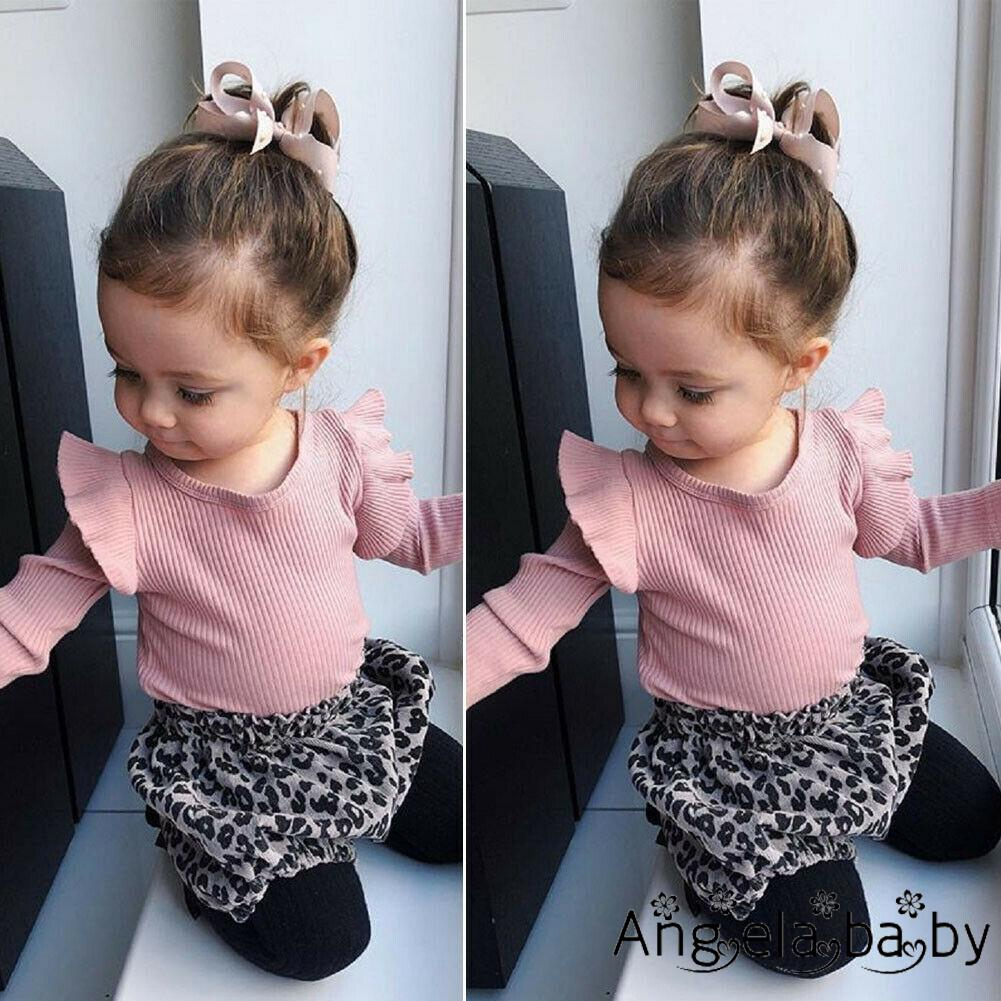 US Newborn Baby Girl Cute Leopard Clothes Long Sleeve Romper Jumpsuit Outfits