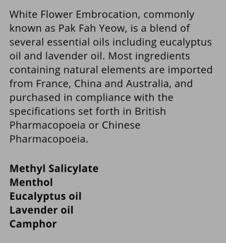White Flower Oil Shopee Philippines