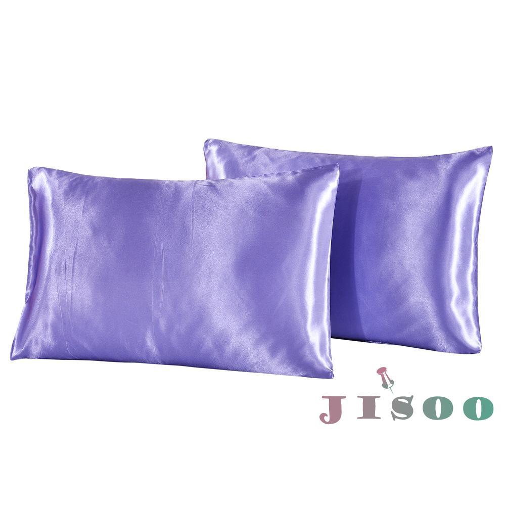 Simple Silk Satin Pillow Case Solid Chair Cushion Cover Pillowcase Home Decor