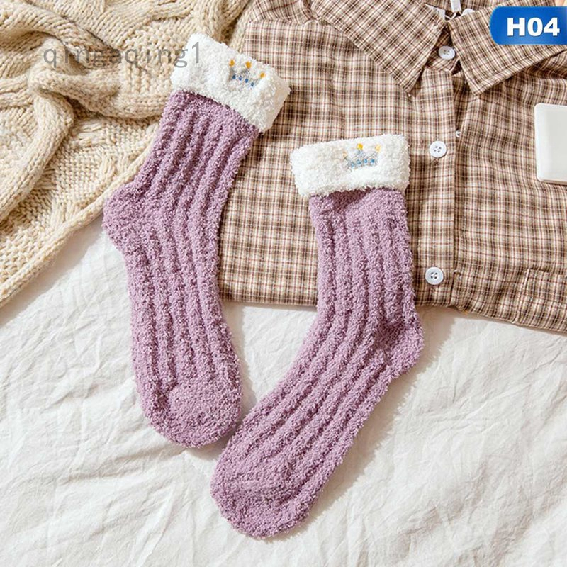 Ladies Women Winter Warm Soft Fluffy Bed Socks Lounge Slipper Fleece Sock Girls