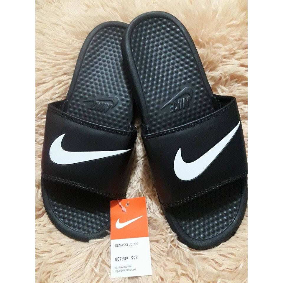 a8a016205bab7 Nike Benassi Swoosh GD Slippers Shoes | Shopee Philippines
