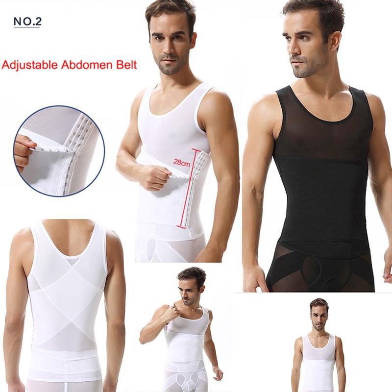 247c56c23143d Mens Slimming Shirt Body Shaper Compression Vest Shapewear