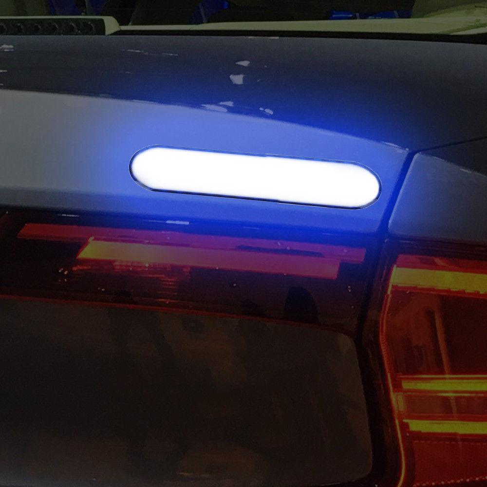 2Pcs Auto Warning Tape Car Reflective Strips Safety Mark Door Sticker Night Lamp