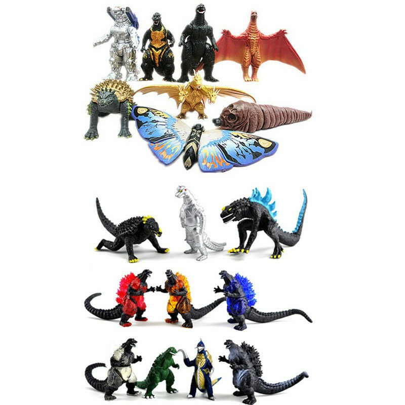 Godzilla2 Mini Action Figures King Ghidorah Godzilla 2019 8Pcs//set PVC Toys