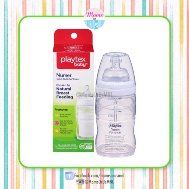 with Slow Flow Nipples 4 oz Playtex Drop Ins System Nursers 0 3 M+