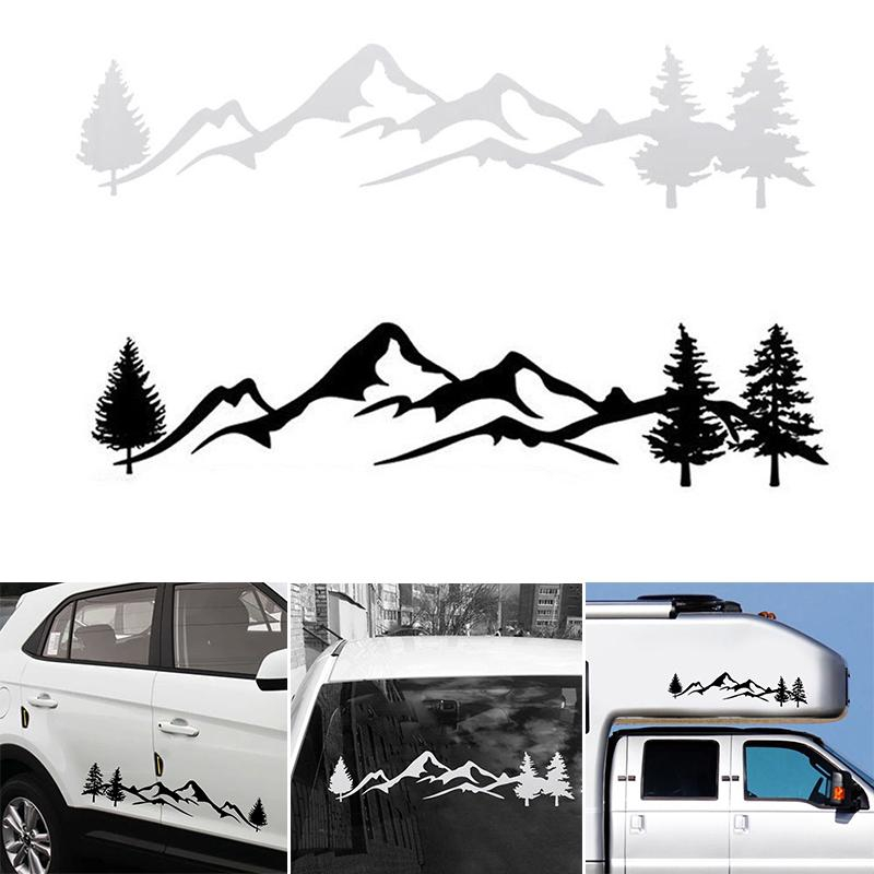 Mountain And Trees Banner Vinyl Decal Pathmaker Photography