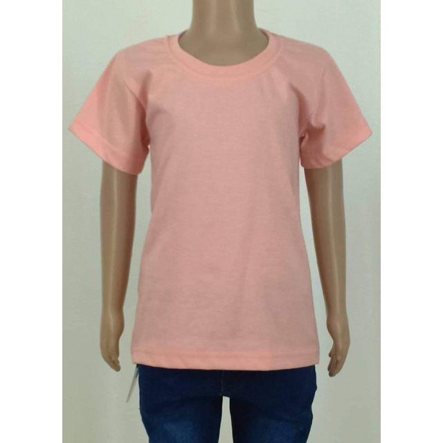 Kids Black Horse Plain Colored T Shirt Peach Shopee Philippines