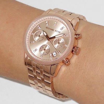 Michael Kors Mk6077 Ritz Ladies Watch Rose Gold Shopee Philippines