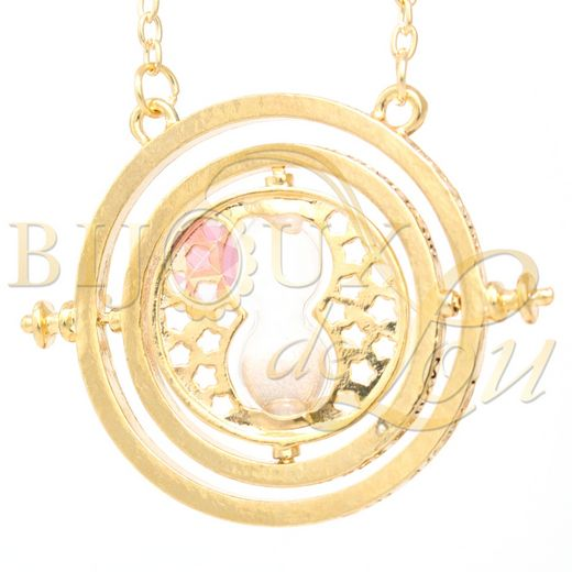 Time Turner Necklace (Thicker Rings)