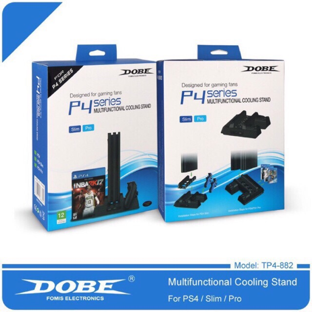 Dobe 2018 Ps4 Fat Slim Pro Multifunctional Cooling Stand