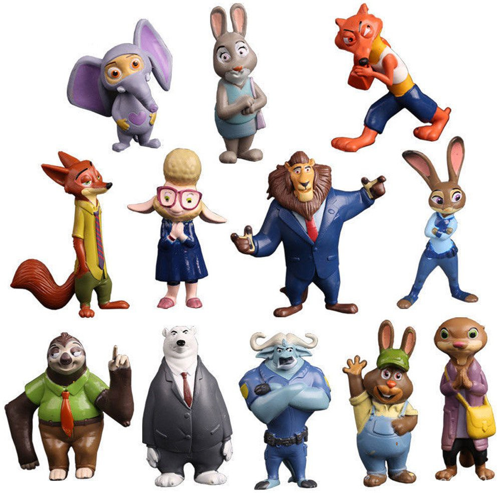 Zootopia 12 Pcs Nick Judy Bellwhether Hopps Wilde Kids Toys Action Figure Gift