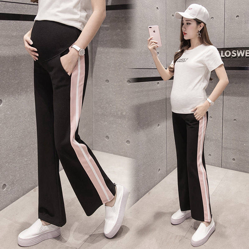 422f6bba7fb48 ProductImage. ProductImage. Pregnant Women Pants Loose Wide Leg Sport  Maternity Pants