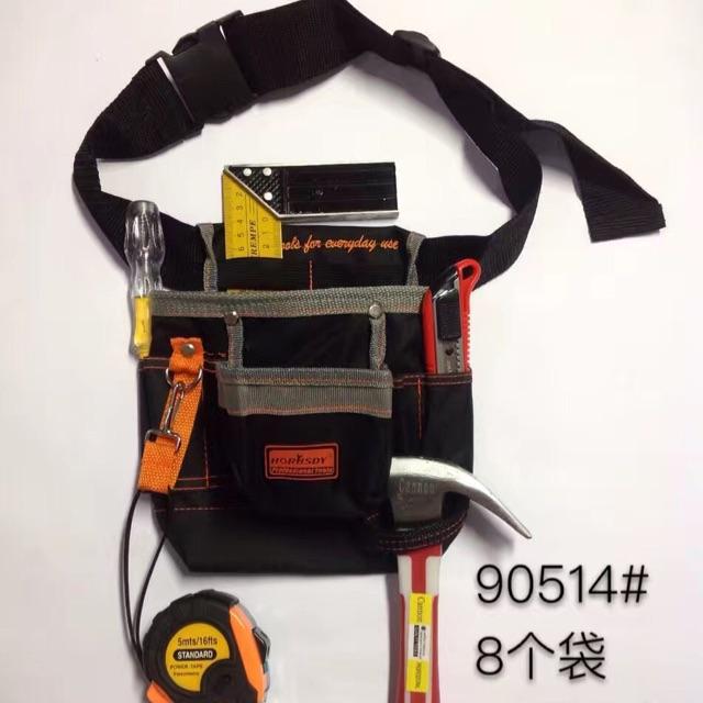 Tool Organizers 1pcs Drill Holder Tool Bag Pouch For Drill Screwdriver Waist Tool Belt Bag Cordless Tool Oxford Hand Tools Set Portable Kit Good Taste
