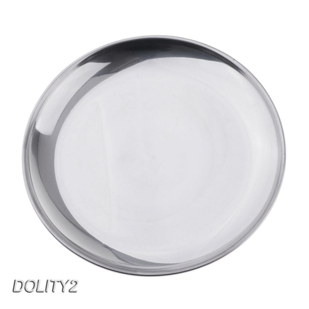 STAINLESS STEEL ROUND RICE TRAY PLATE SERVING DISH PLATTER BBQ BUFFET 26CM