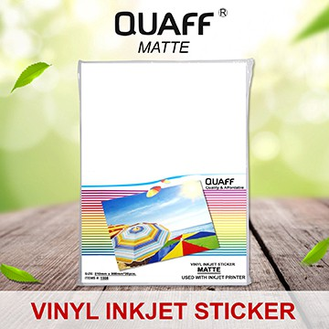 picture regarding Printable Vinyl Sticker known as QUAFF VINYL STICKER MATTE A4