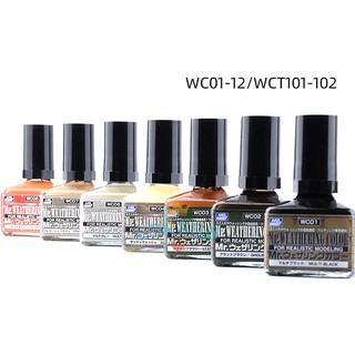 MR WEATHERING COLOR WC01 - WC12 MODEL KITS Dilution Liquid ...