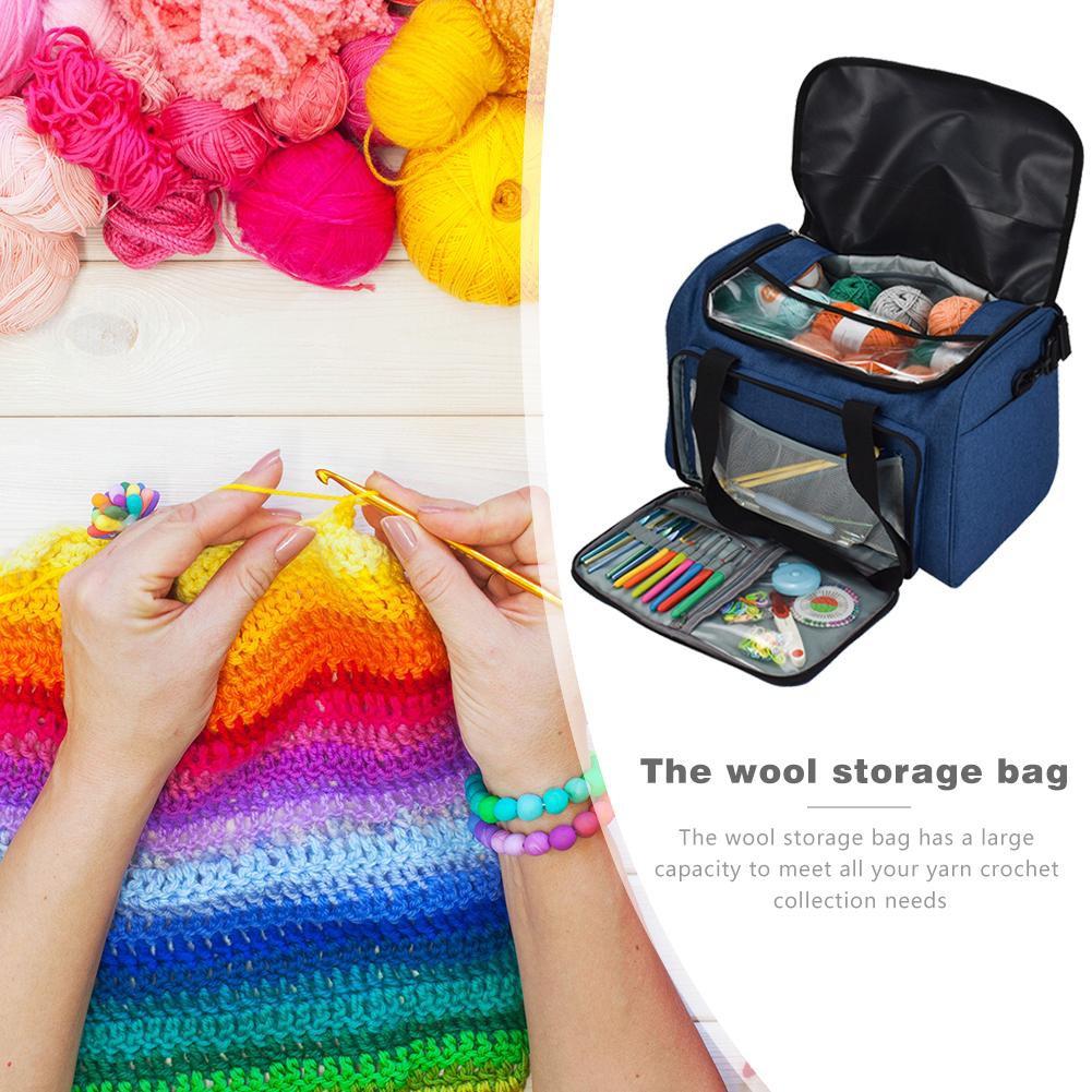 Cute Dots Crochet Hook Pouch Crochet Needle Case Cover Holder Organizer Bag  Ll