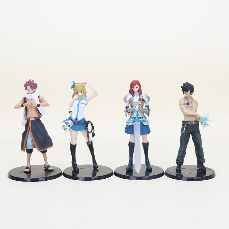 15cm Anime Fairy Tail Natsu Lucy Heartfilia Gray Fullbuster Natsu Pvc Action Figure Collectible Toys Shopee Philippines See more of chibi figure on facebook. shopee
