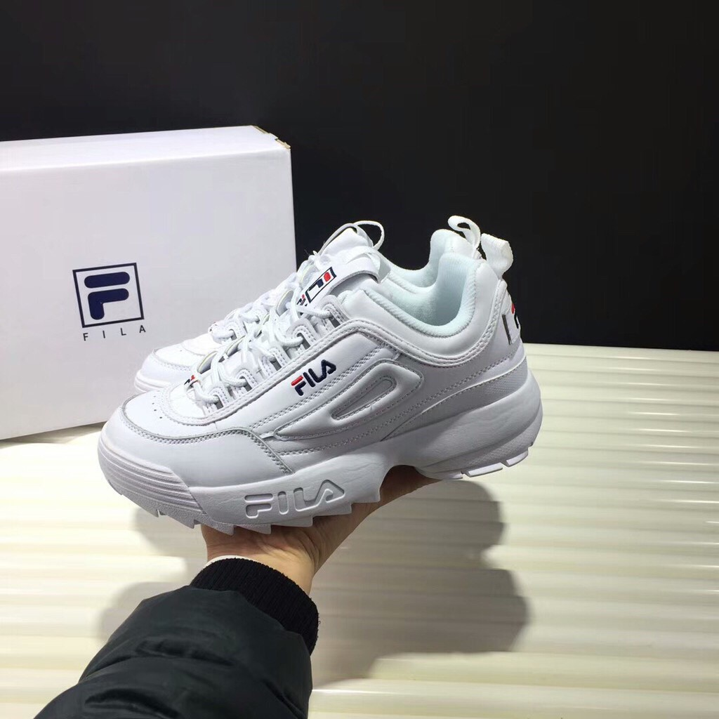 Fila Disruptor II 2 Generation White - Korea Women Shoes