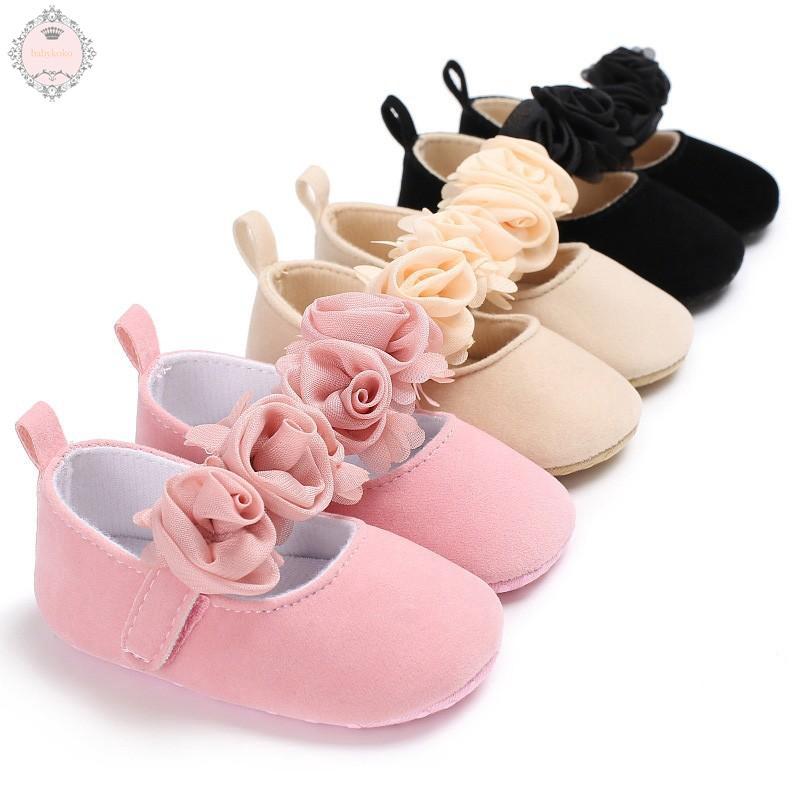 7c1046aa9edf9 Newborn Baby Toddler Girl Crib Shoes Pram Soft Sole Prewalker Anti-slip  Sneaker