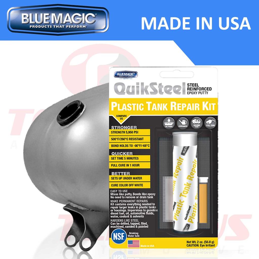 Blue Magic QuikSteel Plastic Tank Repair Kit Epoxy Putty