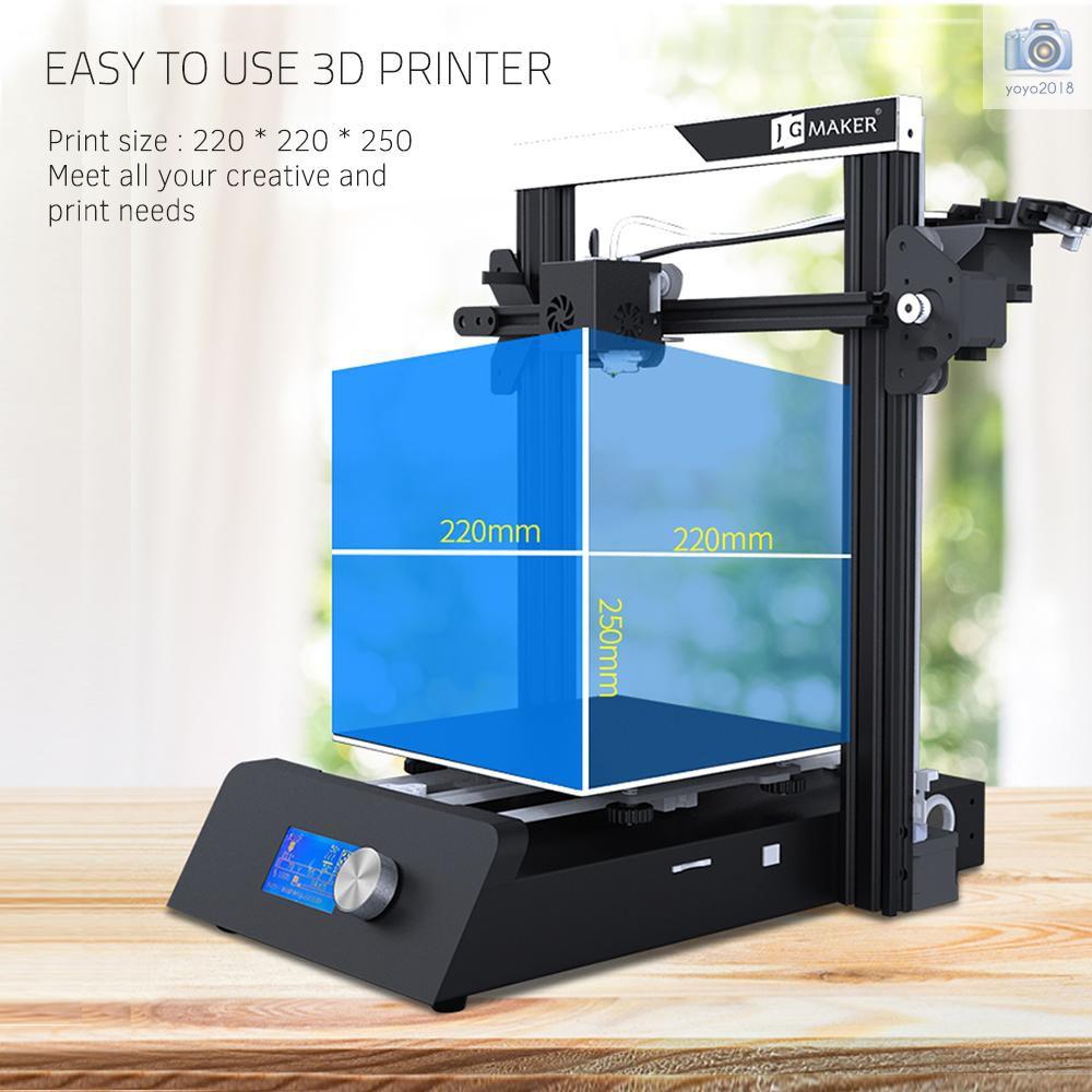 JG MAKER Magic High Precision Desktop 3D Printer DIY Machine Kit  220*220*250mm Build Size with Heat