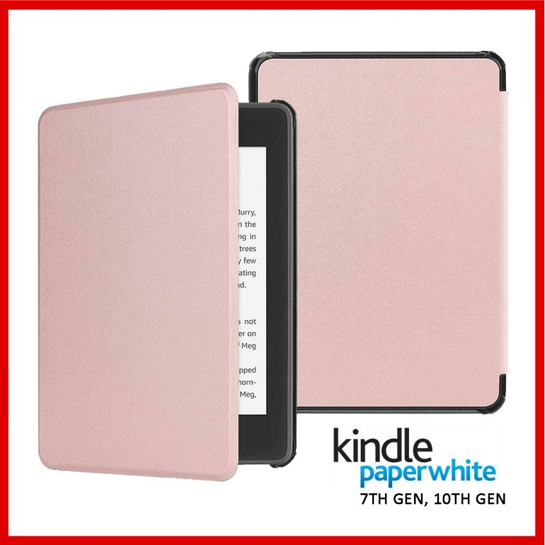 Kindle Paperwhite 3 and 4 Smart Cover Case - Rose Gold 2018