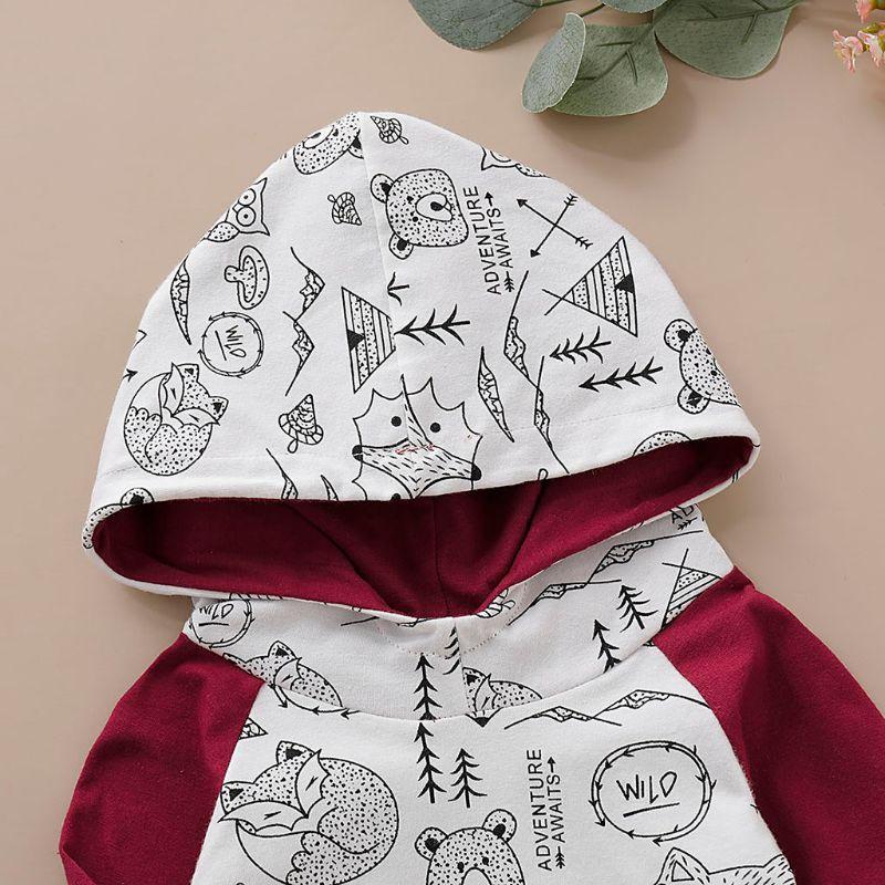 Hooded Sweatshirt Wild One Tops Deer Pants Baby Clothing Infant Long Sleeve Suit
