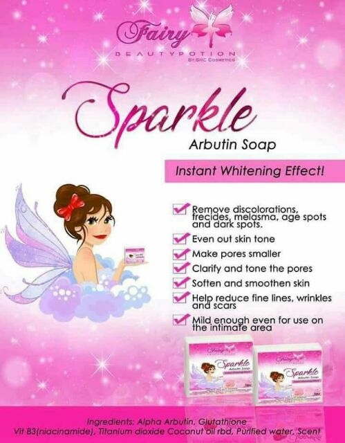 Sparkle Arbutin Soap by Fairy beauty potion | Shopee Philippines